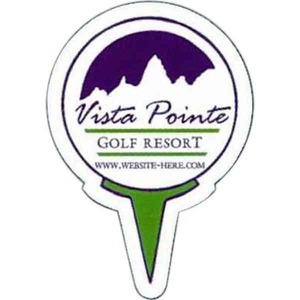 Customized Canadian Manufactured Golf Sport Stock Shaped Magnets