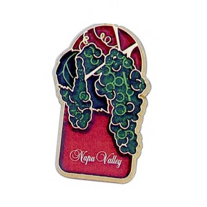 Personalized Canadian Manufactured Grapes Stock Shaped Magnets