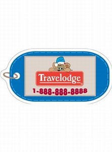 Canadian Stock Shaped Magnets - Canadian Luggage Tag Stock Shaped Magnets