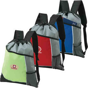 Custom Printed Canadian Manufactured Non Woven Cinchpaks