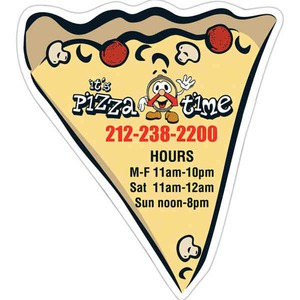 Custom Printed Canadian Manufactured Pizza Slice Stock Shaped Magnets