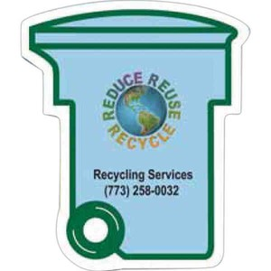 Custom Decorated Canadian Manufactured Recycle Box Stock Shaped Magnets