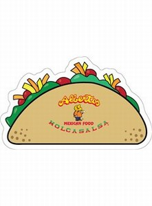 Custom Decorated Canadian Manufactured Taco Stock Shaped Magnets