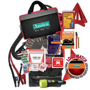 Custom Decorated Car Emergency Kits with Jumper Cables