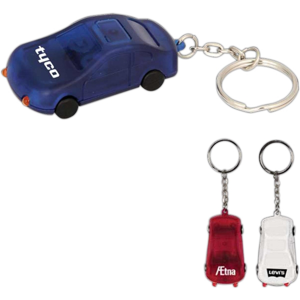 Custom Imprinted Car Shaped Keychain Flashlights!
