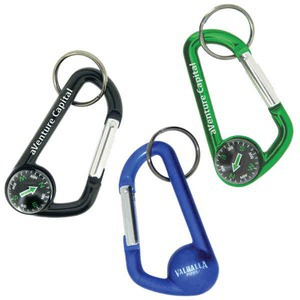 Custom Imprinted Carabiners with Compasses!