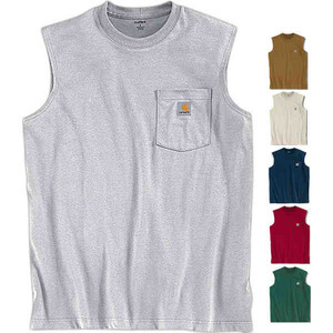 Custom Imprinted Carhartt Brand Sleeveless Tee Shirts