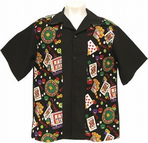 Las Vegas Themed Promotional Items - Casino 50s Party Bowling Shirts