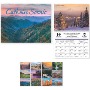 Custom Designed Catholic Scenic Executive Calendars