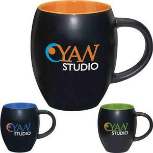 Custom Imprinted Ceramic Barrel Mugs!