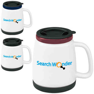Custom Designed Ceramic Travel Mugs with Non Skid Rubber Bases!
