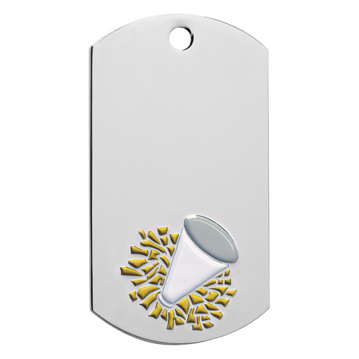 Custom Designed Cheer Leading Dog Tags!