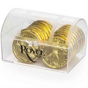 Custom Imprinted Chocolate Filled Treasure Chests
