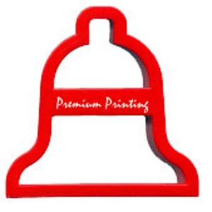 Custom Imprinted Christmas Bell Shaped Cookie Cutters!