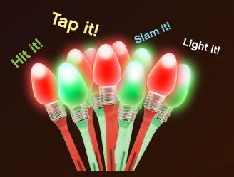 Custom Imprinted Christmas Light Bulb Pens