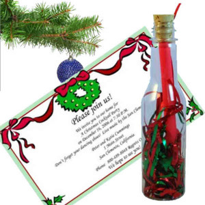 Custom Imprinted Christmas Message in a Bottles