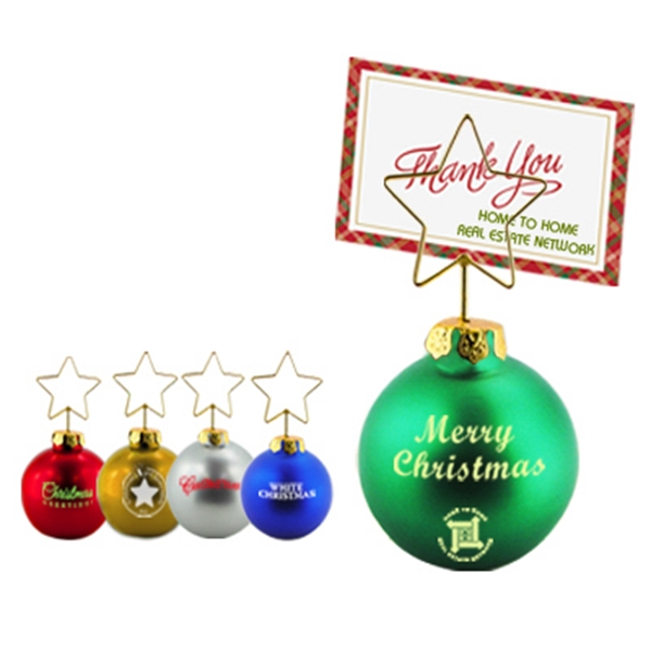 Christmas Themed Promotional Items - Christmas Ornament Memo Clips