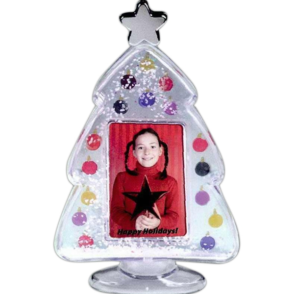 Custom Imprinted Christmas Tree Snow Globes!