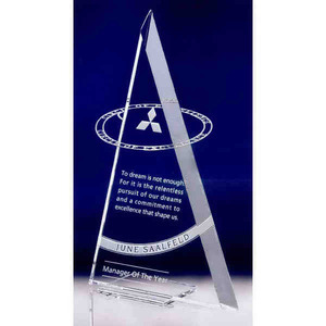 Custom Imprinted Circle Of Excellence Stainless Crystal Awards