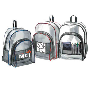 Personalized Clear Vinyl Backpacks!
