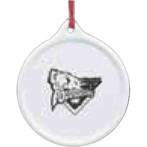 Custom Imprinted Color It Yourself Porcelain Ornaments