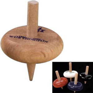 Spinning Tops - Colored Wooden Tops