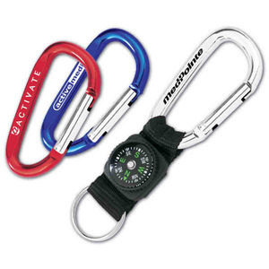 Custom Imprinted Compass and Lanyard Carabiners