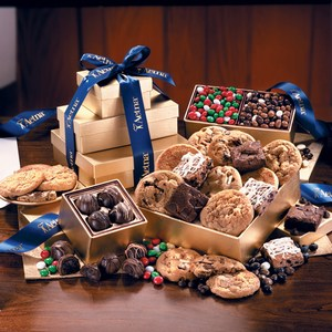 Custom Made Cookie and Brownie Golden Towers Food Gifts