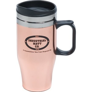 Custom Imprinted Copper Finish Travel Mugs