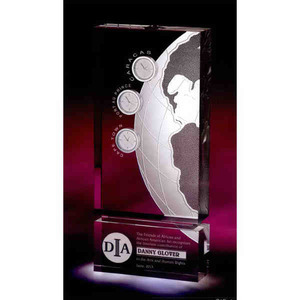 Custom Designed Cosmos Clock Globe Crystal Awards!