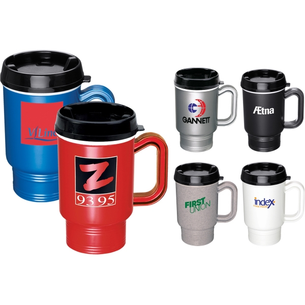 Plastic Shell Travel Mugs -