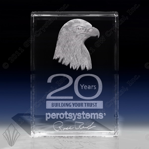 Custom Engraved Rectangular Crystal Awards