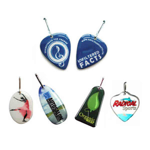 Custom Imprinted Zipper Pulls in Custom Shapes!