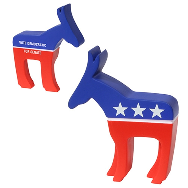 Custom Printed Democratic Campaign Donkey Stress Reliever!