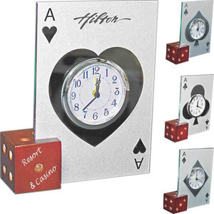 Las Vegas Themed Promotional Items - Dice Picture Frame Clocks