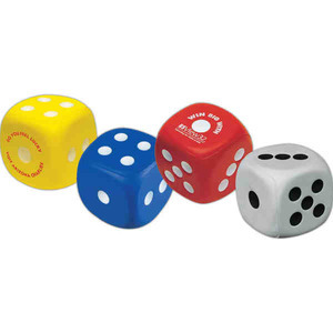 Custom Printed Dice Shaped Stress Relievers