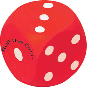 Casino Stress Relievers - Dice Stressball Squeezies