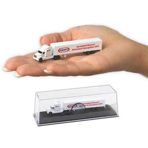 Custom Imprinted Die Cast Conventional Sleepers with Trailers