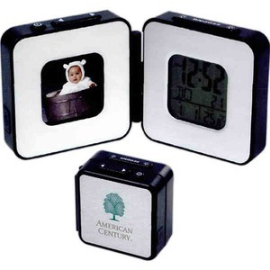 Custom Imprinted Digital Photo Frame Travel Alarm Clocks!