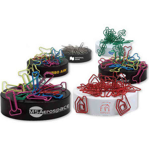 Bent Shaped Paperclips with Magnetic Bases -