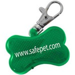 Custom Printed Dog Bone Shaped Pet Collar Reflectors!