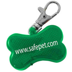 Pet Themed Promotional Items - Dog Bone Shaped Pet Collar Reflectors