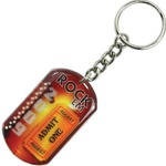 Custom Imprinted Dog Tag Key Chains