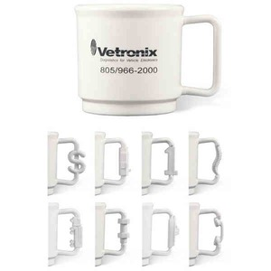 Shaped Handle Stackable Mugs - Dollar Sign Shaped Handle Stackable Mugs