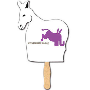 Democratic Promotional Items - Democratic Campaign Donkey Fans