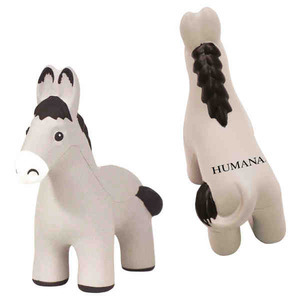Custom Imprinted Democratic Donkey Stress Reliever