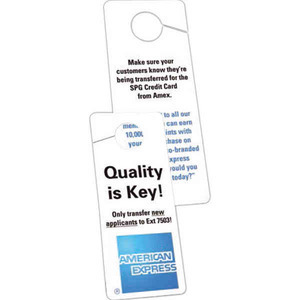 Motel and Hotel Industry Promotional Items - Door Hangers
