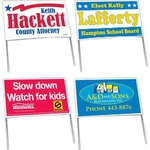 Custom Imprinted Double Sided Poly Bag Political Election Campaign Signs