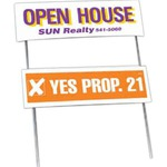 Custom Imprinted Double Sided Yard Political Election Campaign Signs and Folded Frames