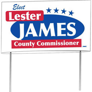 Custom Designed Double Sided Yard Signs!